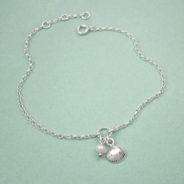 sterling silver shell bracelet swj230 2