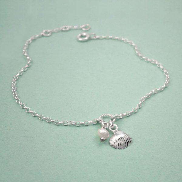 sterling silver shell bracelet swj230 3