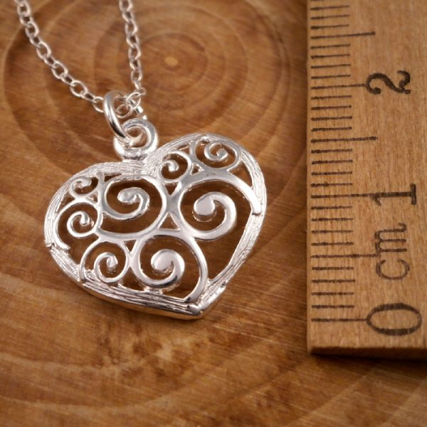 sterling silver spiral heart necklace swj64 2