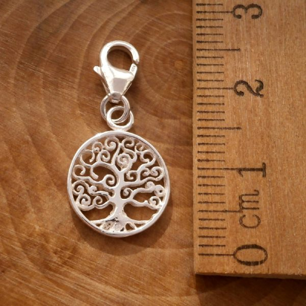 sterling silver spiral tree of life clip on charm swj111 2