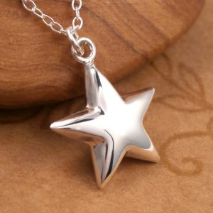 sterling silver star necklace swj36