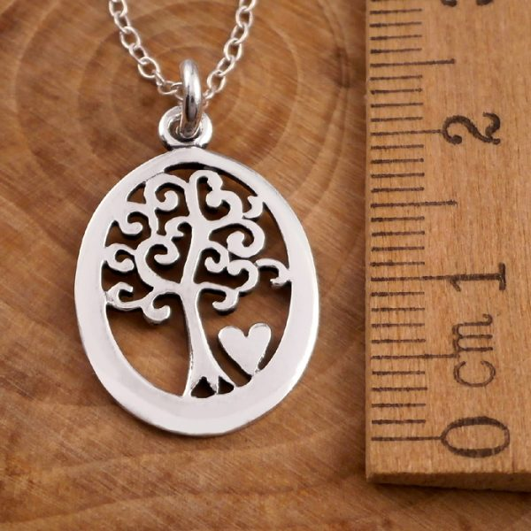 sterling silver oval tree of life necklace swj11 3