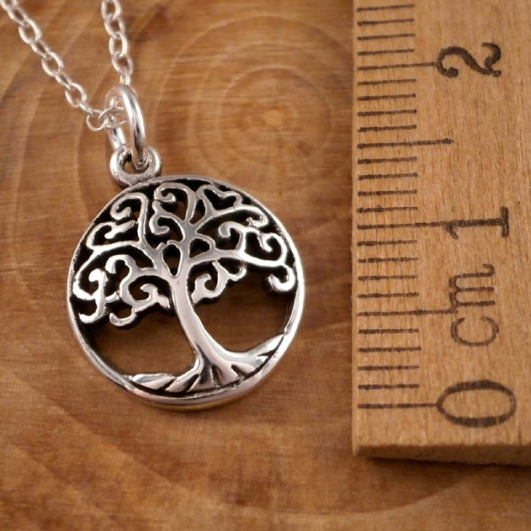 sterling silver tree of life charm necklace swj67 2