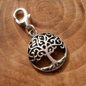 sterling silver tree of life clip on charm swj107