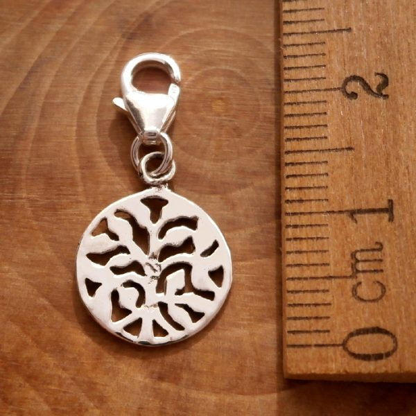 sterling silver tree of life clip on charm swj109 3