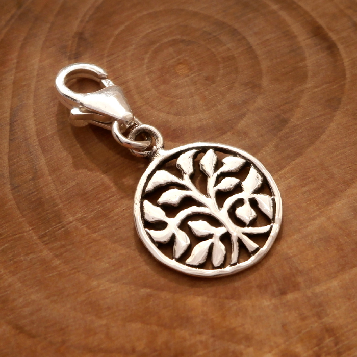 Sterling Silver Tree of Life Clip on Charm fjKAQ5c