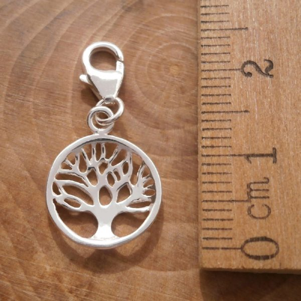 sterling silver tree of life clip on charm swj96 3
