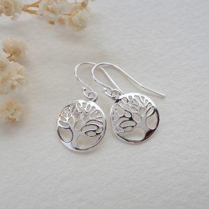 sterling silver tree of life earrings swje119