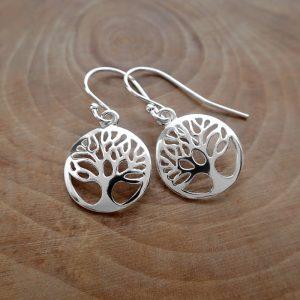 sterling silver tree of life earrings tree of life drop earrings swje119