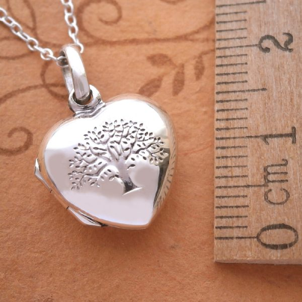 sterling silver tree of life heart locket necklace swj23 3