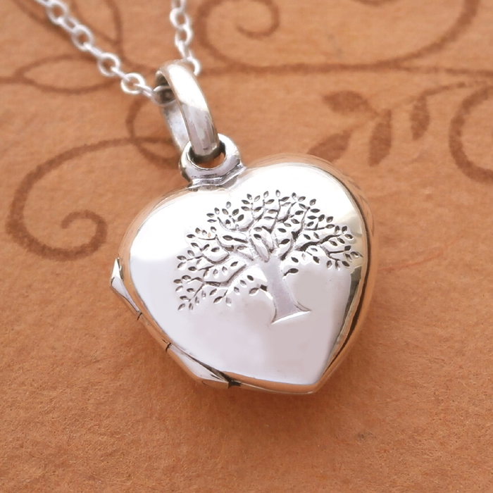 efd6dbe0a9 Sterling Silver Small Tree of Life Heart Locket | Silver Willow ...