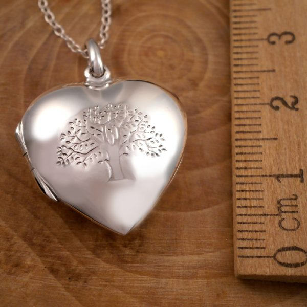 sterling silver tree of life heart locket necklace swj81 2
