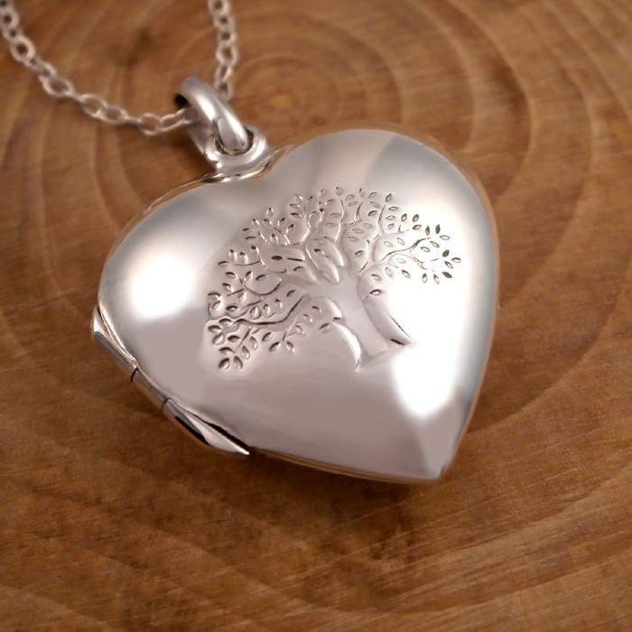 aa1186945b Sterling Silver Tree of Life Heart Locket | Silver Willow Jewellery