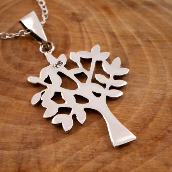 sterling silver tree of life necklace swj17 3