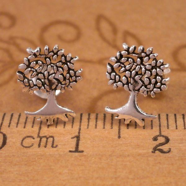 sterling silver tree of life stud earrings swj55 2