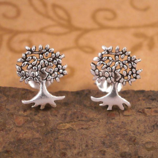 sterling silver tree of life stud earrings swj55 3