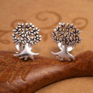 sterling silver tree of life stud earrings swj55