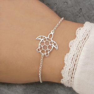 sterling silver turtle bracelet sea turtle braceletswj242