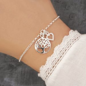 sterling silver tree of life bracelet swj206